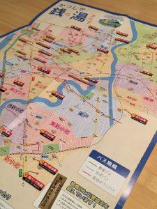 東京都葛飾区の銭湯マップ